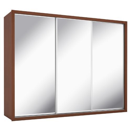 Guarda-roupas Novo Horizonte Údine Com 3 Portas de Correr 6 Gavetas Com Espelho