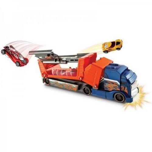 Caminhão Hot Wheels Batida Com Veículo Mattel Azul Mattel