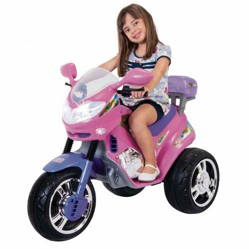 Mini Moto Magic Toys Fada 6v - Lilás/rosa