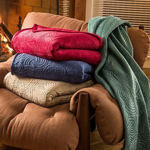 Cobertor Queen Pinsonic Com Borda em Velvet Casa & Conforto
