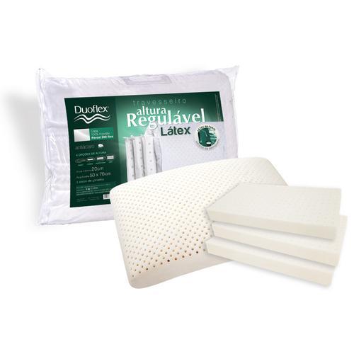 Travesseiro Duoflex Altura Regulável Nasa 100% Algodão 100% Poliuretano 50x70cm