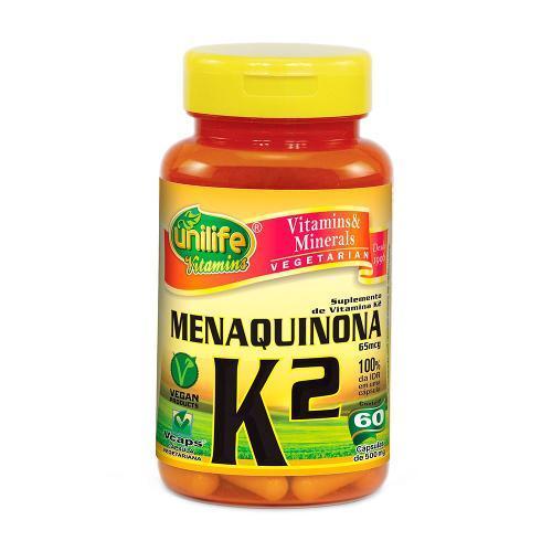 Unilife Vitamina K2 Menaquinona 60 Capsulas