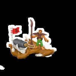 Figura Imaginext Pirata e Canhão Mattel