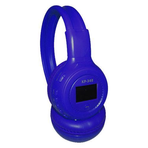 Fone de Ouvido Headphone Sem Fio Com Visor Azul Knup Kp348