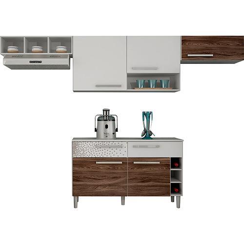 Cozinha Completa Palmeira Móveis Nobilis Kit 6 5 Portas 2 Gavetas