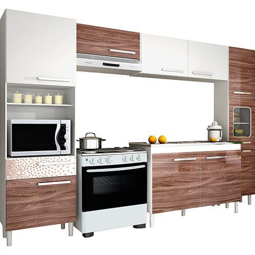 Cozinha Completa Palmeira Móveis Nobilis Kit 12 10 Portas 1 Gaveta