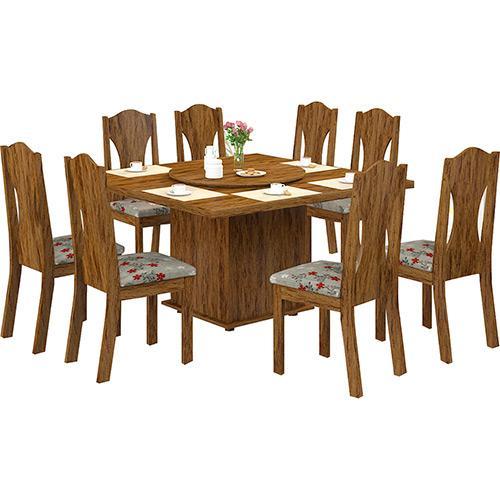 Conjunto de Mesa e Cadeira Livia 8 Cadeiras Viero Móveis