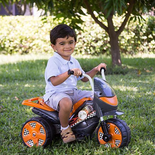 Mini Moto Brink+ Speed Tr1002sc 6v - Azul/laranja