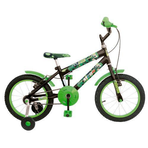 Bicicleta Mega Bike Junior Aro 16 Rígida - Preto/verde