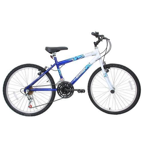Bicicleta Cairu Flash Aro 24 Rígida 21 Marchas - Azul/branco