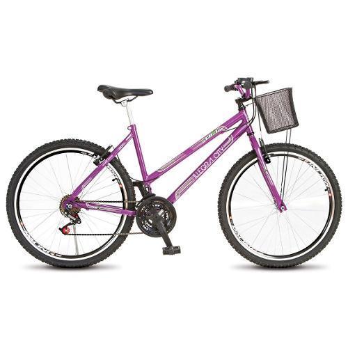 Bicicleta Colli Bike Allegra City Aro 26 Rígida 18 Marchas - Violeta