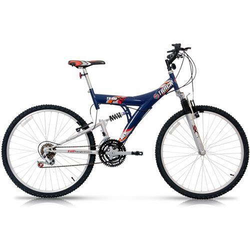 Bicicleta Track&bikes Tb100xs Aro 26 Full Suspensão 18 Marchas - Azul