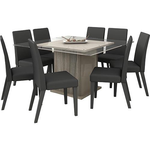 Conjunto de Mesa e Cadeira Topázio 8 Cadeiras Madesa