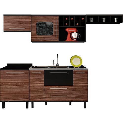 Cozinha Completa Palmeira Móveis Tamara 5 Portas 3 Gavetas