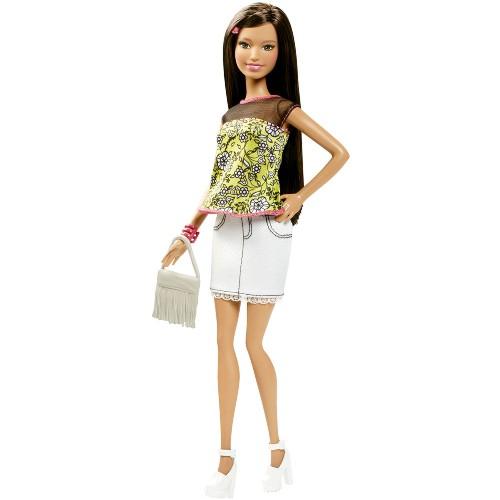 Boneca Barbie Mattel Fashionistas Balada - Saia Jeans Cln62