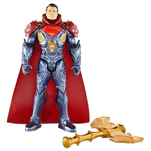 Figura Articulada 15 Cm Batman Vs Superman a Origem da Justiça Superman Com Armadura Dourada Mattel