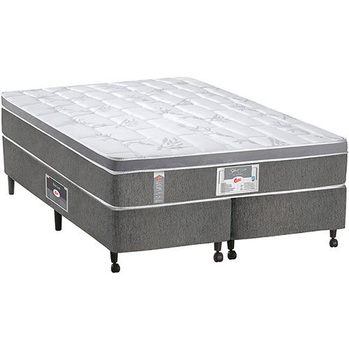 Cama Box Castor Silver Star One Face 193x203x48cm