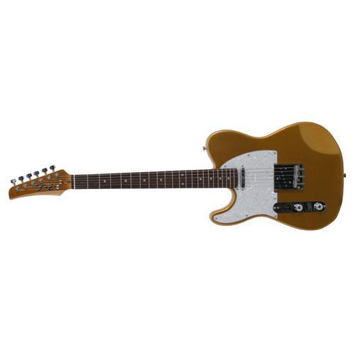 Guitarra Seizi Television Canhoto Marrom