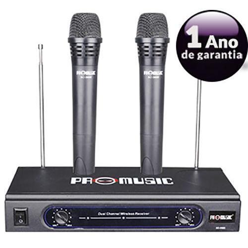Kit 2 Microfones Vhf S/ Fio Profissional 055-3688 Promusic