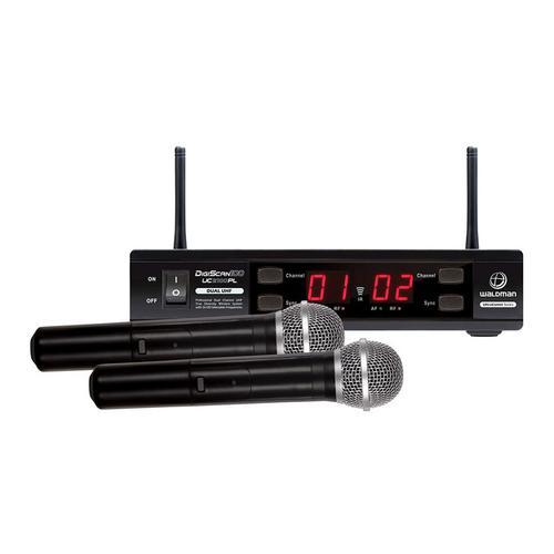 Kit 2 Microfones Dinâmicos Cardióides + Receptor (sem Fio) Uc2100pl Waldman