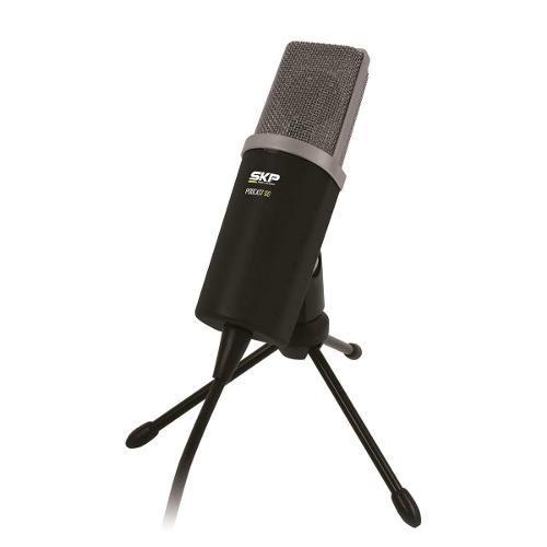 Microfone C/ Fio P/ Estúdio P2 Podcast 100 Skp Pro Audio