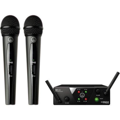Microfone Sem Fio Wireless Mini Dual Wms40 Akg