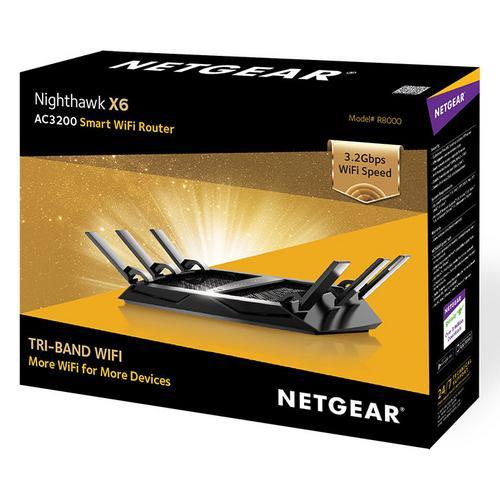 Roteador 1300mbps Ac3200 Nighthawk X6 R8000-100nas Netgear