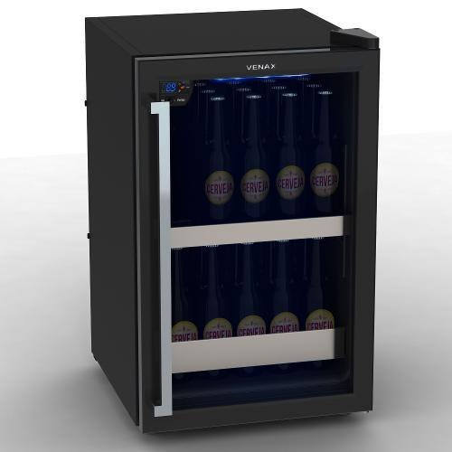 Geladeira/refrigerador 100 Litros 1 Portas Preto Color Light - Venax - 110v
