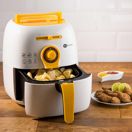 Fritadeira Fun Kitchen Colors Fritalight Amarelo e Branco 220v