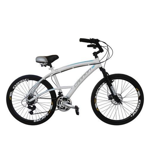 Bicicleta Cannondale Confort Aro 26 Susp. Dianteira 21 Marchas - Branco