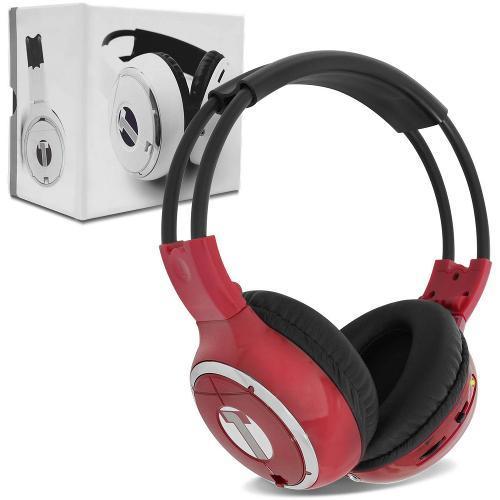 Fone de Ouvido Headphone Via Infravermelho Vermelho Tech One
