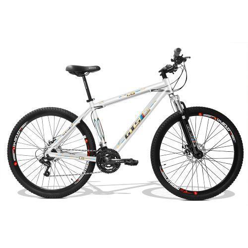 Bicicleta Gts M1 Obstáculo 1.0 T19 Aro 29 Susp. Dianteira 24 Marchas - Branco