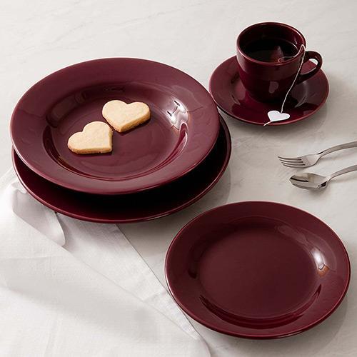 Aparelho de Jantar e Chá Vinho 20 Peças - La Cuisine