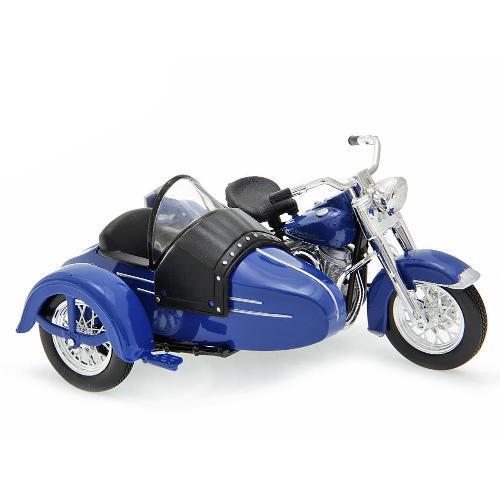 Moto Side Car Harley Davidson Fl Hydra Glide 1952 1:18 Maisto