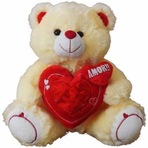 Pelúcia Urso Coração 35cm Fizzy