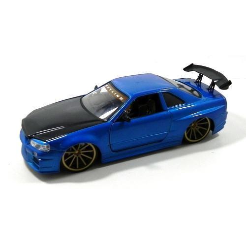 Miniatura Nissan Skyline Gt-r 2002 Azul 1:24 96812 Jada Toys