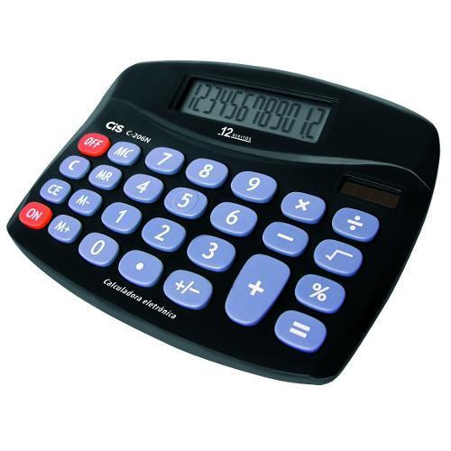 Calculadora de Mesa 12 Dígitos Com Pilha C206n Cis