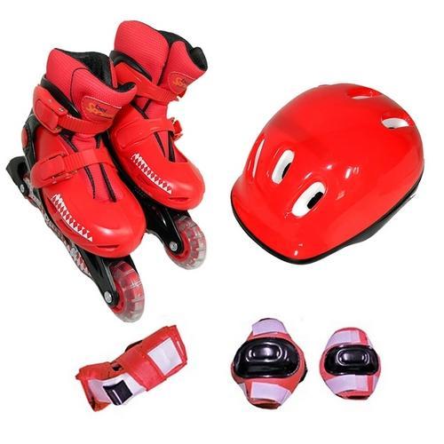 Patins Bel Sports Kit Radical Vermelho 367400