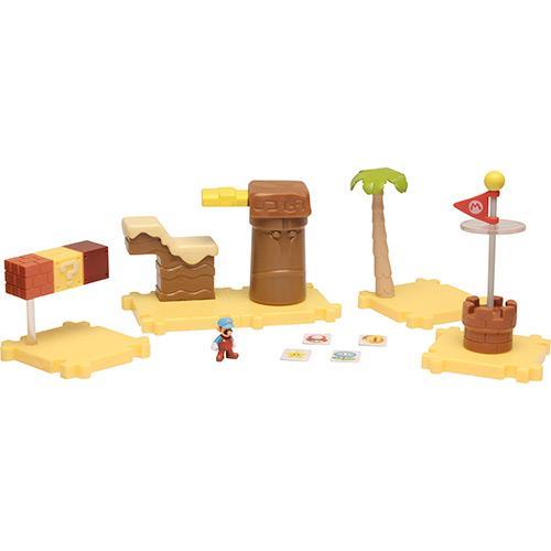 Boneco Micro Land Super Mario Deluxe Cake Desert Dtc