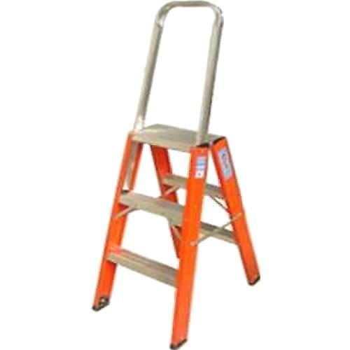 Escada de Fibra Pintor Com Alça 5 Degraus Fp200 Alulev