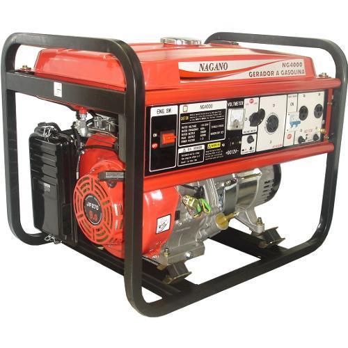 Gerador de Energia Gasolina 4000w Nagano Monofásico 220v - Ng4000