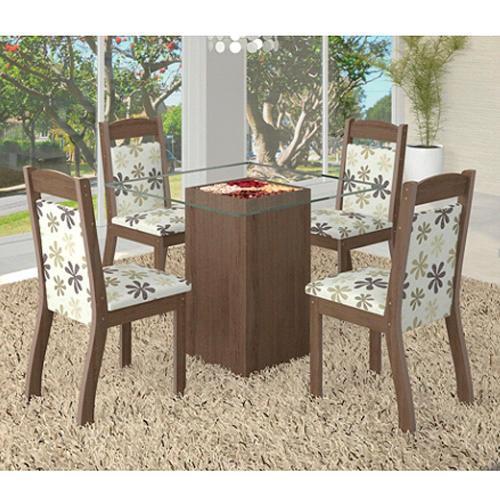 Conjunto de Mesa e Cadeira Mesa Topázio e 4 Cadeiras Maly Viero Móveis