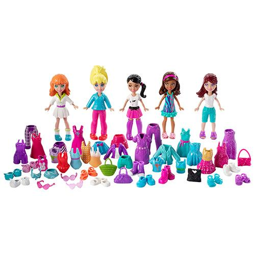 Boneca Polly Pocket Mattel 5 Amigas Super Fashion