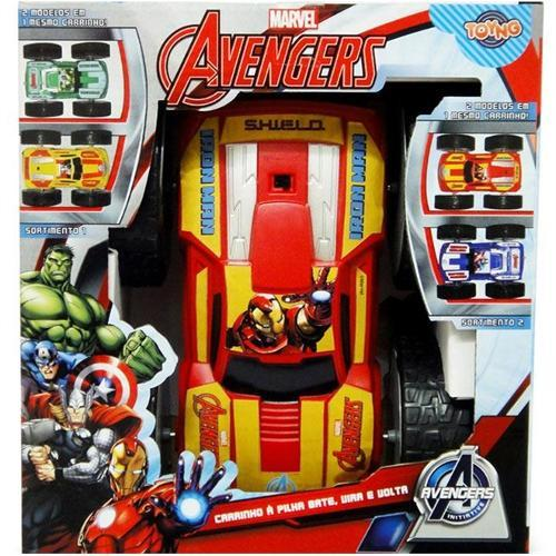 Carrinho Cambalhota - os Vingadores Marvel - Homem de Ferro Toyng