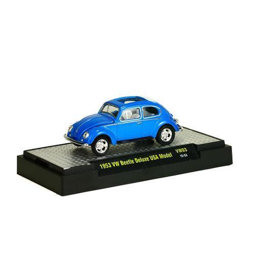 Miniatura Volkswagen Fusca Beetle 1953 Deluxe Usa Model Vw03 1:64 M2 Machines