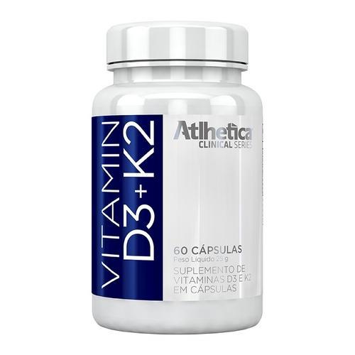 Atlhetica Nutrition Vitamina D3+k2 - 60 Cápsulas