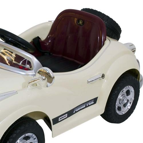 Mini Carro Belfix Mini Rolls Royce Retrô 6v Com Controle Remoto - Bege
