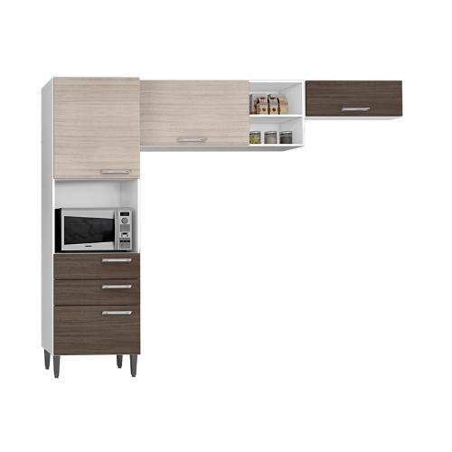 Cozinha Completa Poquema Móveis Compacta 8 Portas