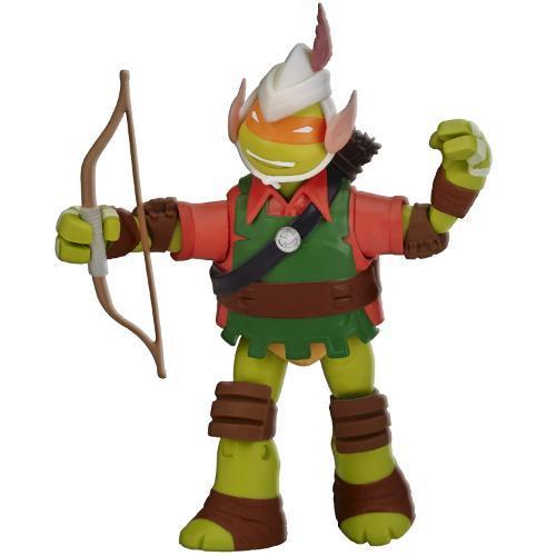 Boneco Tartarugas Ninja Figura de Ação 12cm Michelangelo Elfo Arqueiro Multikids