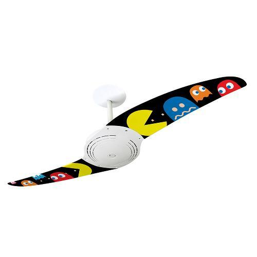 Ventilador de Teto 2 Pás Spirit Pac Man Fantasmas Coloridos Colorido 114cm - 220v - 200